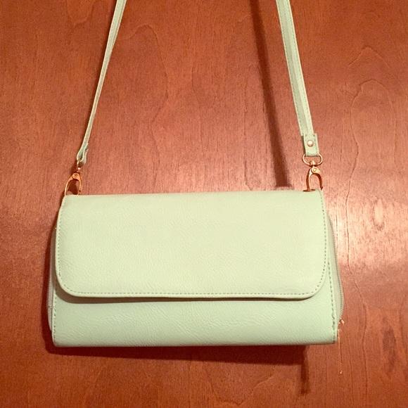 Handbags - Cute Aqua Clutch